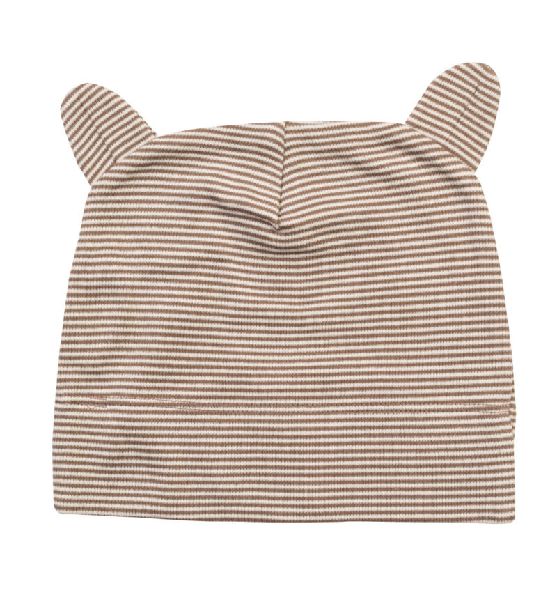 Babybugz Little Hat With Ears Organic Natural and Mocha