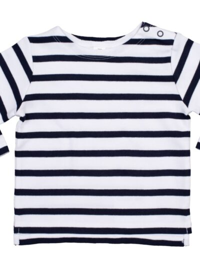 Babybugz Baby Brenton Top White and Navy