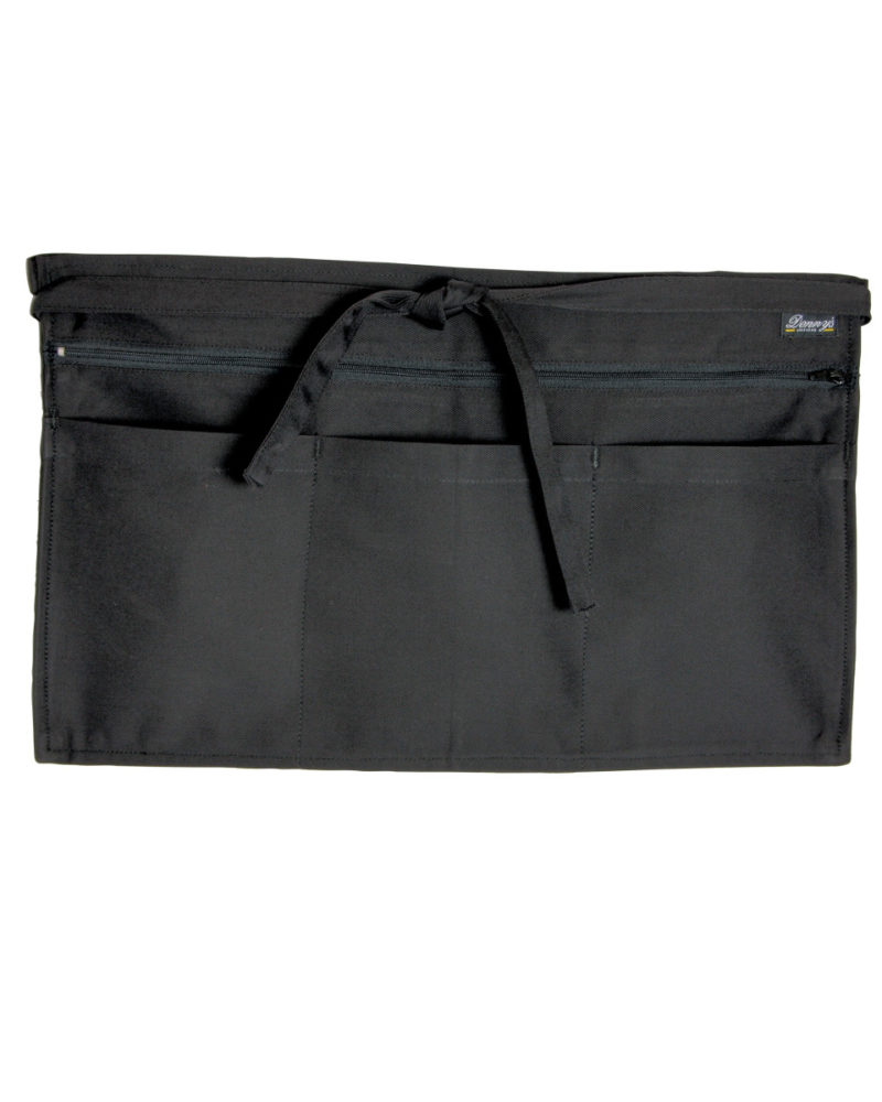 Dennys Full Zip Multi-Pocket Apron Black