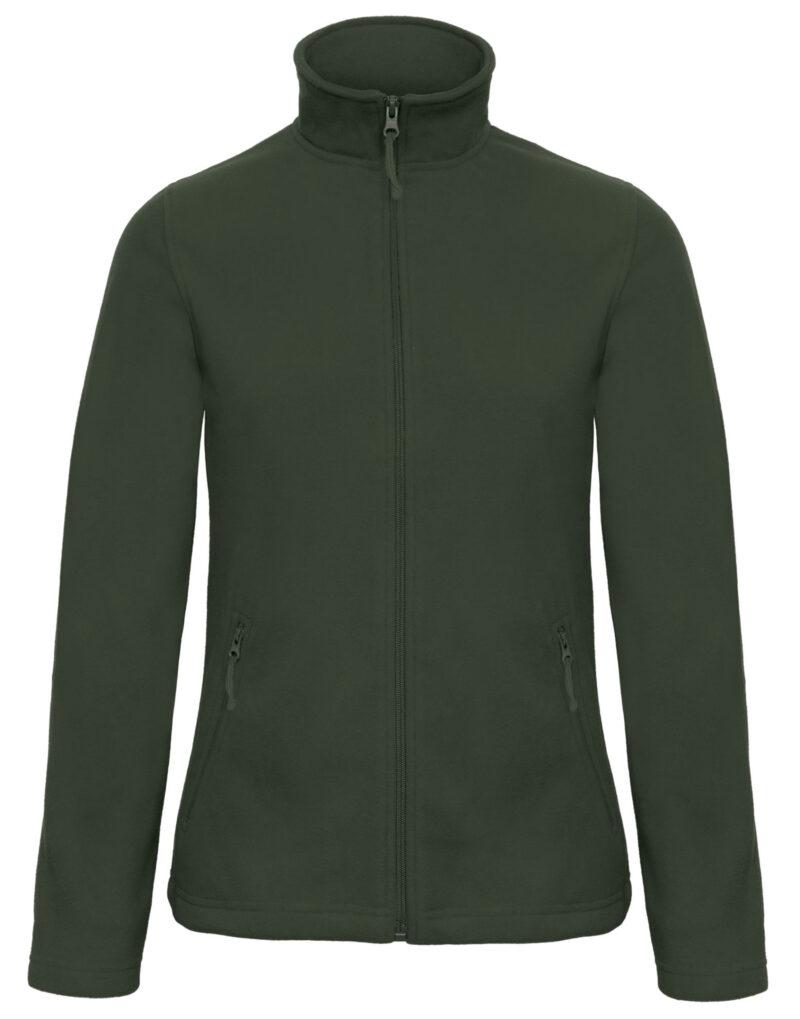 B&C ID.501 Women's Micro Fleece Full Zip Forest Green