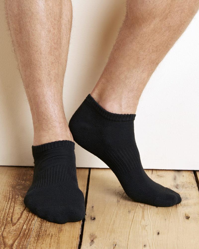 Gildan Platinum No Show Mens Socks (Blk)