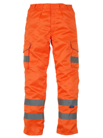 Yoko Cargo Knee Pad Trousers (Reg) Hi Vis Orange