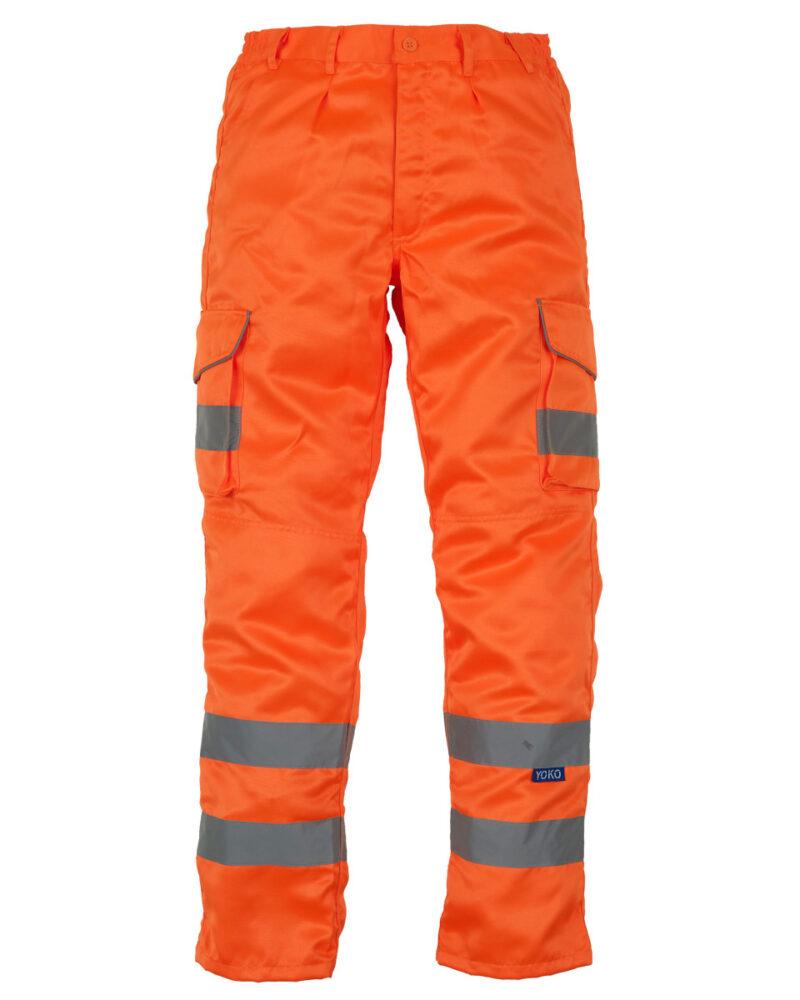 Yoko Cargo Knee Pad Trousers (Reg) Hi Vis Orange