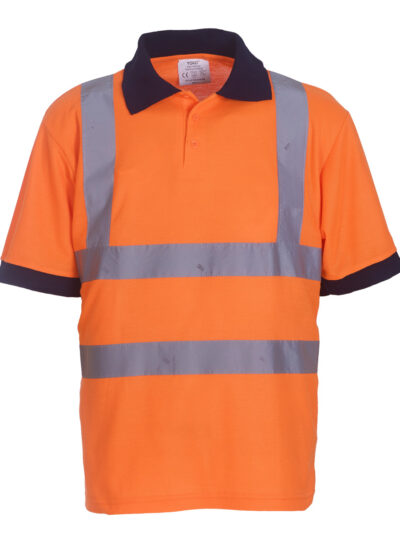 Yoko Hi-Vis Short Sleeve Polo Shirt (HVJ210-3M)