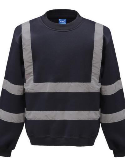 Yoko Hi-Vis Sweatshirt Navy Blue