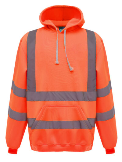 Yoko Hi-Vis Pull-Over Hoodie Hi Vis Orange