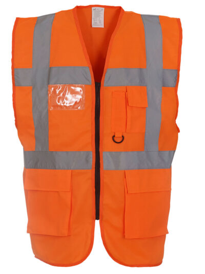 Yoko Hi-Vis Executive Waistcoat Hi Vis Orange