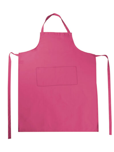 Bistro By Jassz Amsterdam Bib Apron with Pocket Pink