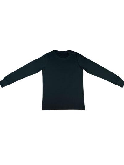 Nakedshirt Men's 'Jim' Organic Long Sleeve T-Shirt Black