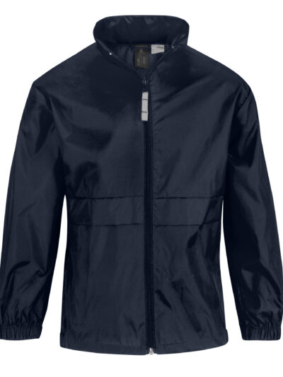 B&C Kid's Sirocco Windcheater Jacket Navy Blue