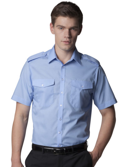 Kustom Kit Mens S/S Pilot Shirt