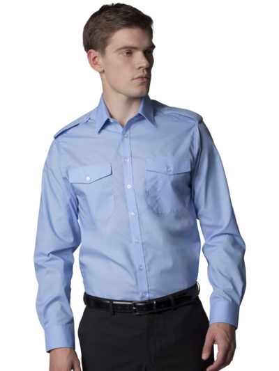Kustom Kit Men's L/S Pilot Shirt