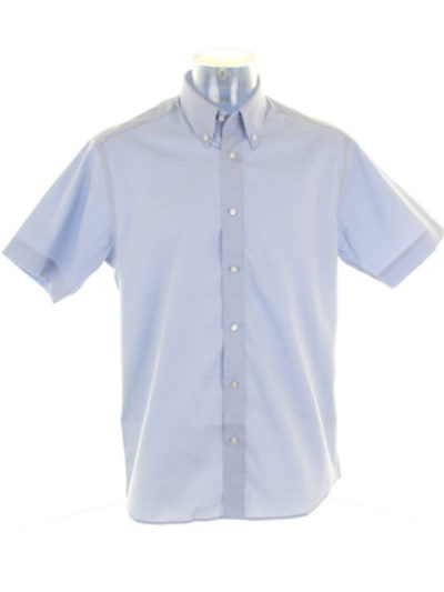 Men's Short Sleeve Tailored Fit Premium Oxford Shirt