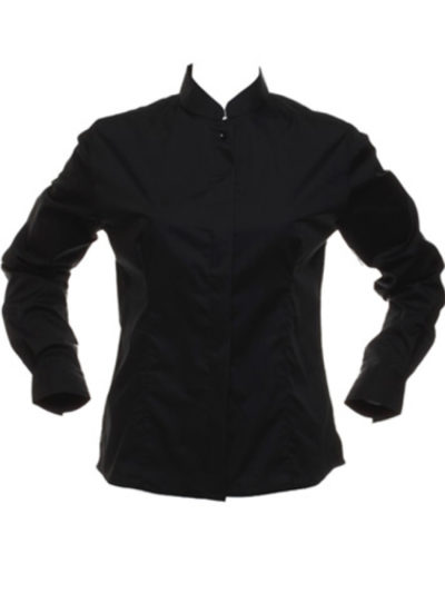 Ladies' Long Sleeved Mandarin Collar Bar Shirt