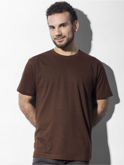 Nakedshirt Larry Triblend Men's Favourite T-Shirt Double Dyed Flame
