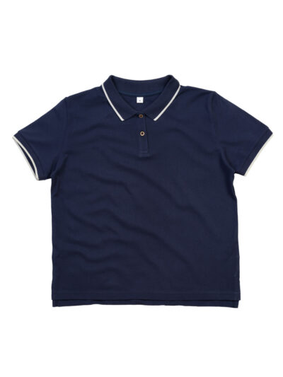 Mantis The Women's Tipped Polo Navy and White