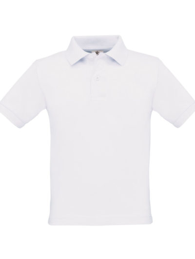 B&C Kid's Safran Polo Shirt White