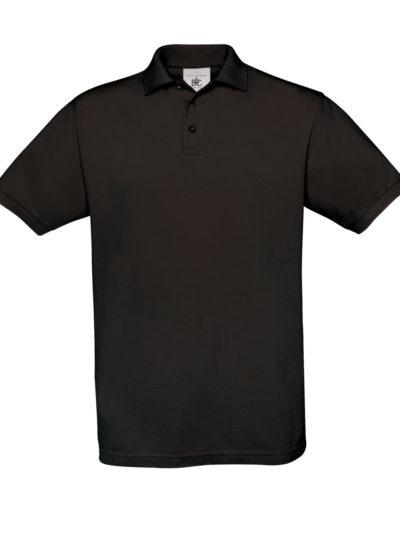 B&C Men's Safran Piqué Polo Black