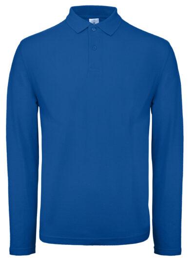 B&C ID.001 Men's Long Sleeve Polo Royal Blue