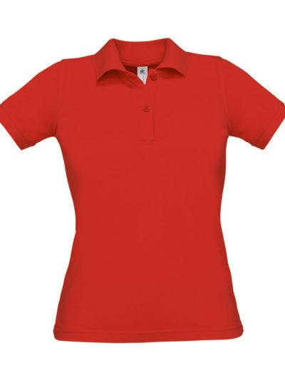 B&C Women's Safran Pure Polo Shirt Red
