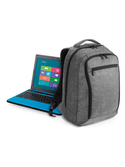 Quadra Executive Digital Backpack Grey Marl