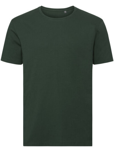 Russell Pure Organic Men's Authentic Tee Pure Organic Bottle Green