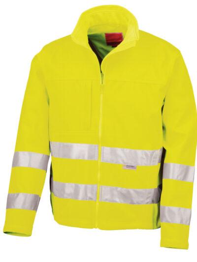 Result Safeguard Hi-vis Tech Soft Shell Jacket Hi-Vis Yellow