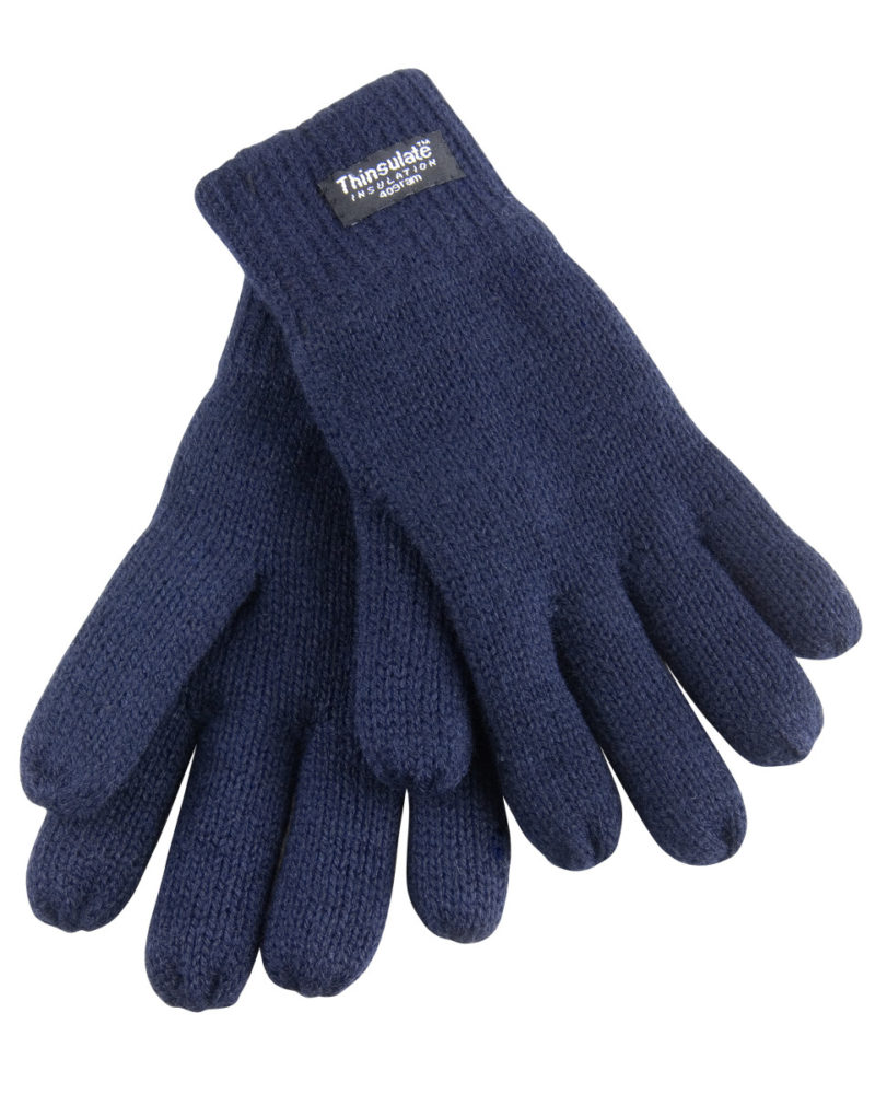 Result Winter Essentials Junior Classic Lined Thinsulate™ Gloves Navy Blue