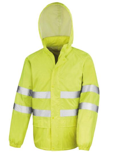 Result Safeguard Hi-Vis Waterproof Suit Fluro Yellow