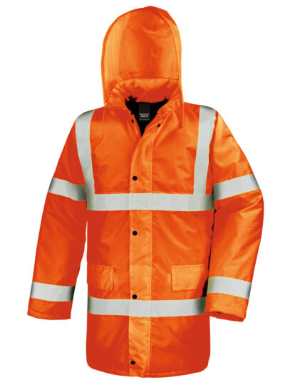 Result Safeguard Motorway Jacket Hi Vis Orange