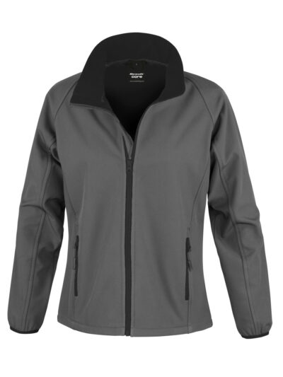 Result Core Ladies' Printable Softshell Jacket Charcoal and Black