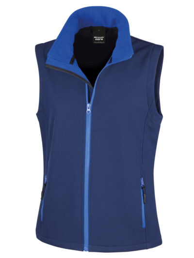 Result Core Ladies' Printable Softshell Bodywarmer Navy and Royal