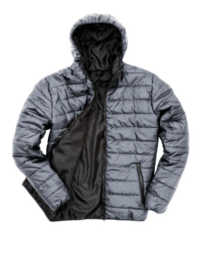 Result Core Men's Soft Padded Jacket Frost Grey and Black