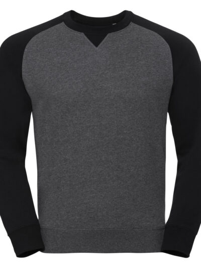 Russell Authentic Baseball Sweat Carbon Melange and Black