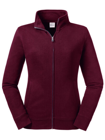 Russell Ladies' Authentic Sweat Jacket Burgundy