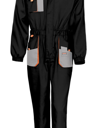 WORK-GUARD by Result Lite Coverall Black and Grey and Orange