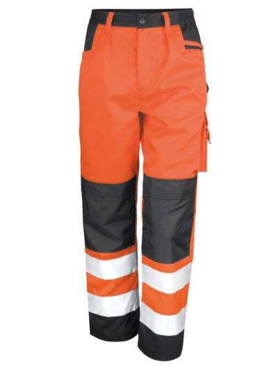 Result Safeguard Safety Cargo Trousers Hi Vis Orange