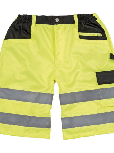 Result Safeguard Safety Cargo Shorts Fluro Yellow