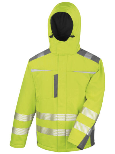 Result Safeguard Dynamic Softshell Coat Fluro Yellow