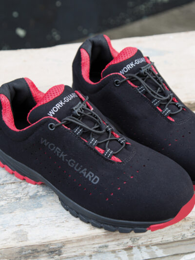 WORK-GUARD by Result Shield Lightweight Safety Trainer Black and Red