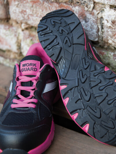 WORK-GUARD by Result Women's Safety Trainer Pink and Black