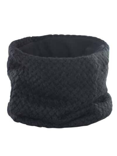 Result Winter Essentials Braided Snood Black