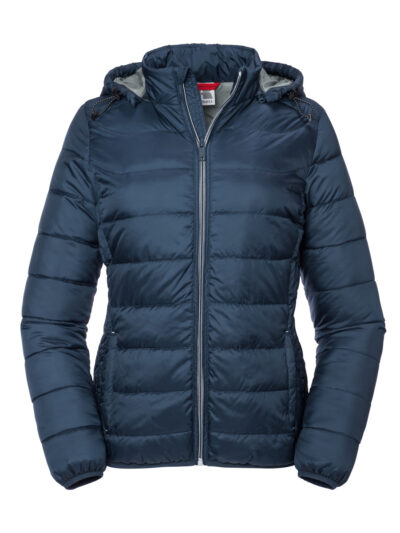Russell Ladies' Hooded Nano Jacket French Navy