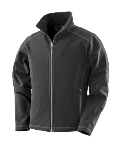 WORK-GUARD by Result Women's Treble Stitch Softshell Black