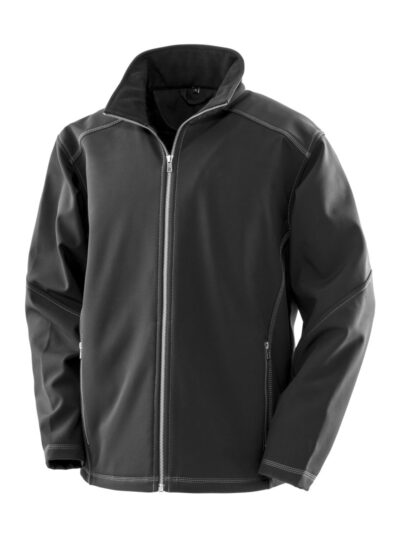 WORK-GUARD by Result Men's Treble Stitch Softshell Black