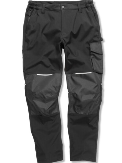 WORK-GUARD by Result Slim Softshell Work Trousers Black