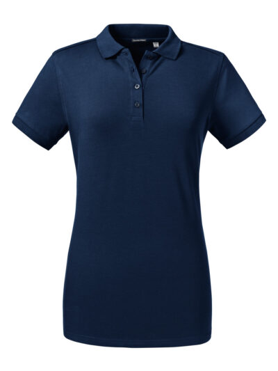 Russell Ladies' Tailored Stretch Polo French Navy