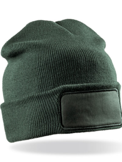 Result Winter Essentials Double Knit Printers Beanie Bottle Green