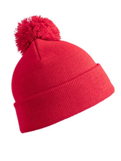 Result Winter Essentials Junior Pom Pom Beanie Red