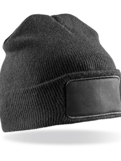 Result Winter Essentials Double Knit Thinsulate™ Printers Beanie Black